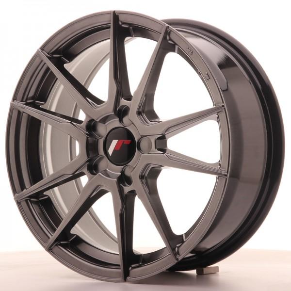 JR Wheels JR21 17x7 ET35-40 5H BLANK Hyper Black