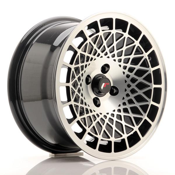 JR Wheels JR14 15x8 ET20-25 BLANK Gloss Black w/Machined Face