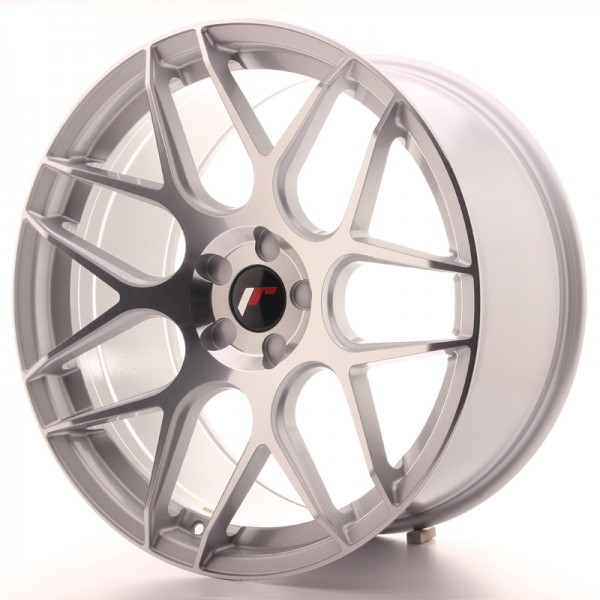 JR Wheels JR18 20x10 ET20-45 5H BLANK Silver Machined Face