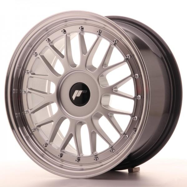 JR Wheels JR23 17x8 ET20-45 BLANK Hyper Silver w/Machined Lip