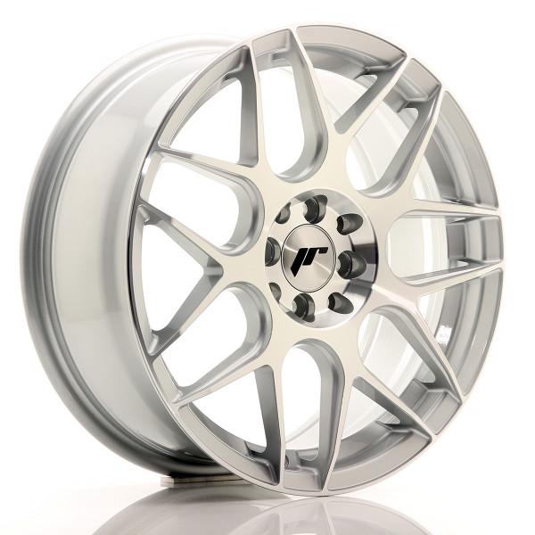 JR Wheels JR18 17x7 ET40 4x100/114 Silver Machined Face