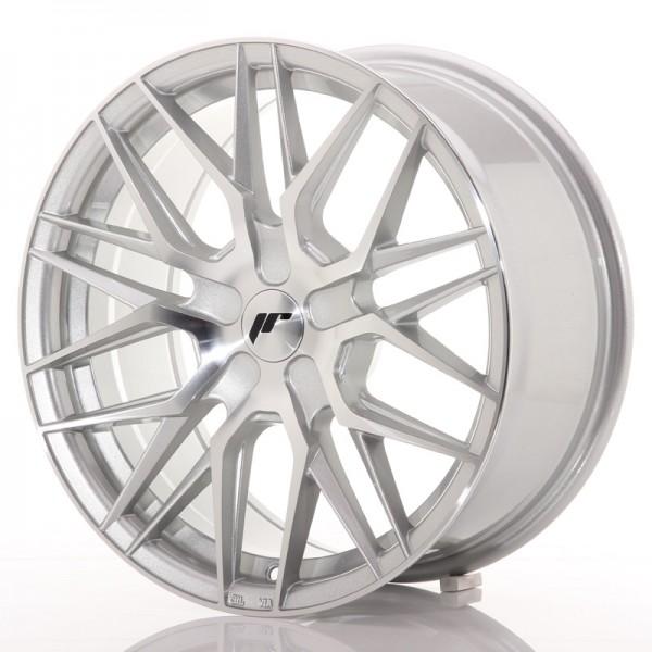 JR Wheels JR28 17x8 ET25-40 BLANK Silver Machined Face
