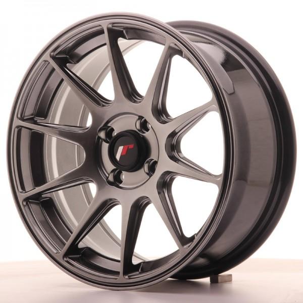 JR Wheels JR11 16x7 ET25 4x100 Dark Hyper Black