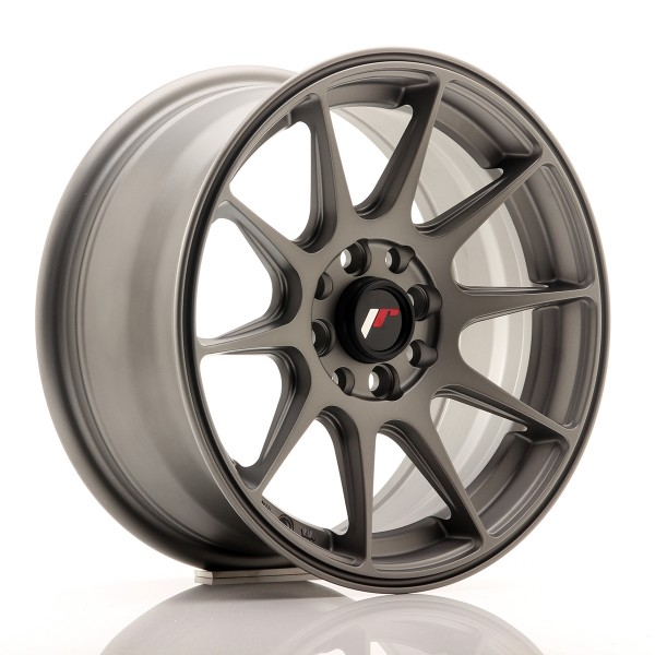 JR Wheels JR11 15x7 ET30 4x100/114 Matt Gun Metal