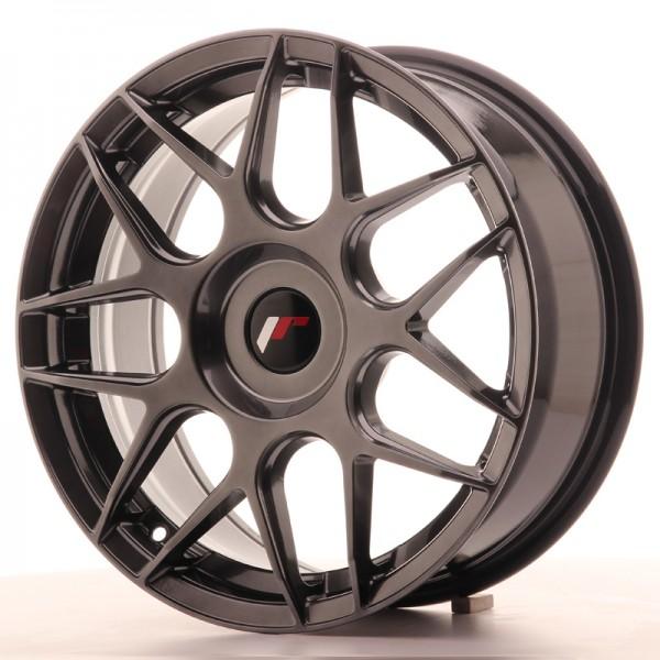 JR Wheels JR18 17x7 ET20-40 BLANK Hyper Black