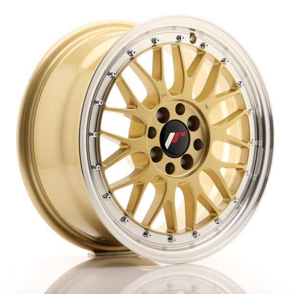 JR Wheels JR23 16x7 ET40 4x100/114,3 Gold w/Machined Lip