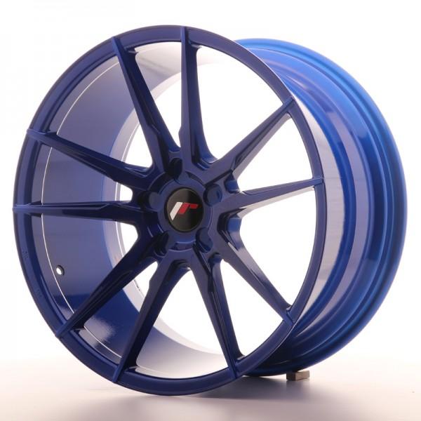 JR Wheels JR21 20x10 ET20-40 5H BLANK Platinum Blue