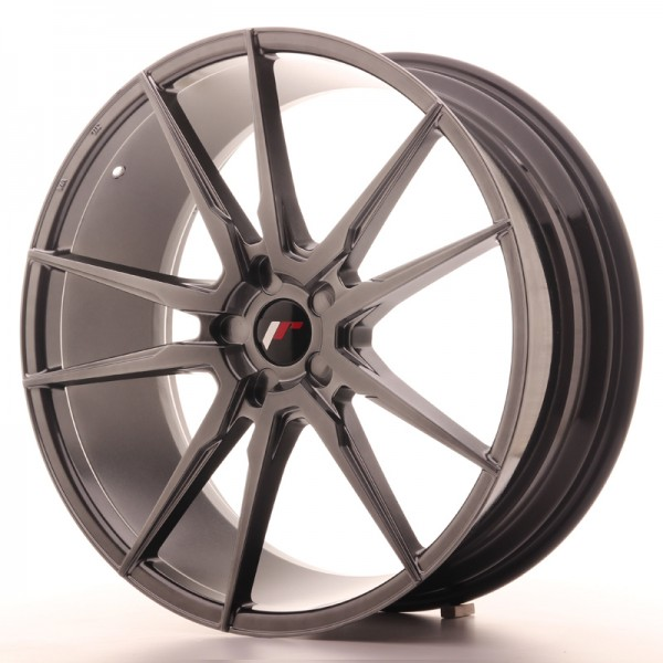JR Wheels JR21 22x9 ET30-45 5H BLANK Hyper Black