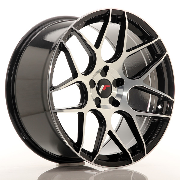 JR Wheels JR18 20x10 ET20-45 5H Blank Glossy Black