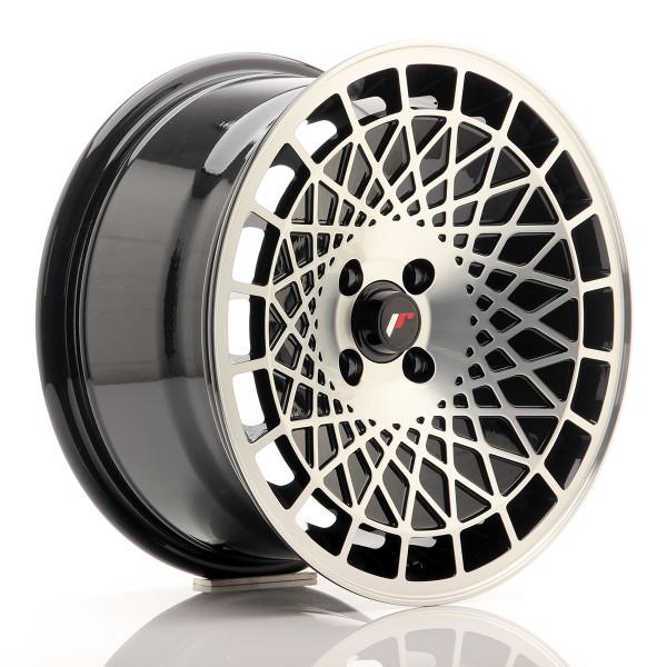 JR Wheels JR14 16x8 ET15 4x100 Gloss Black w/Machined Face