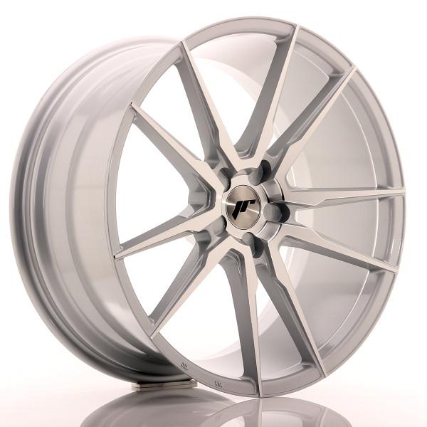 JR Wheels JR21 21x10 ET15-48 5H BLANK Silver Machined Face
