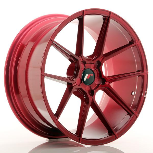 JR Wheels JR30 20x10 ET20-40 5H BLANK Platinum Red