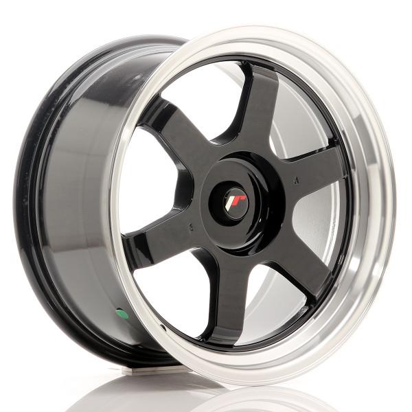 JR Wheels JR12 18x9 ET25-27 BLANK Gloss Black w/Machined Lip