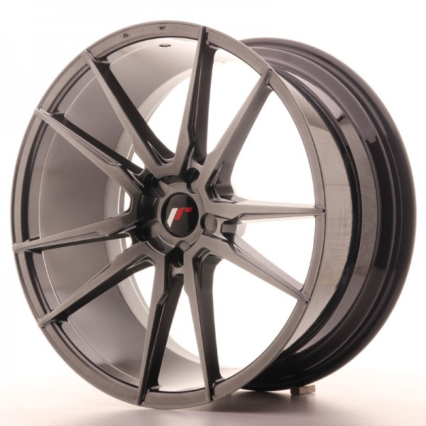 JR Wheels JR21 21x10 ET15-48 5H BLANK Hyper Black