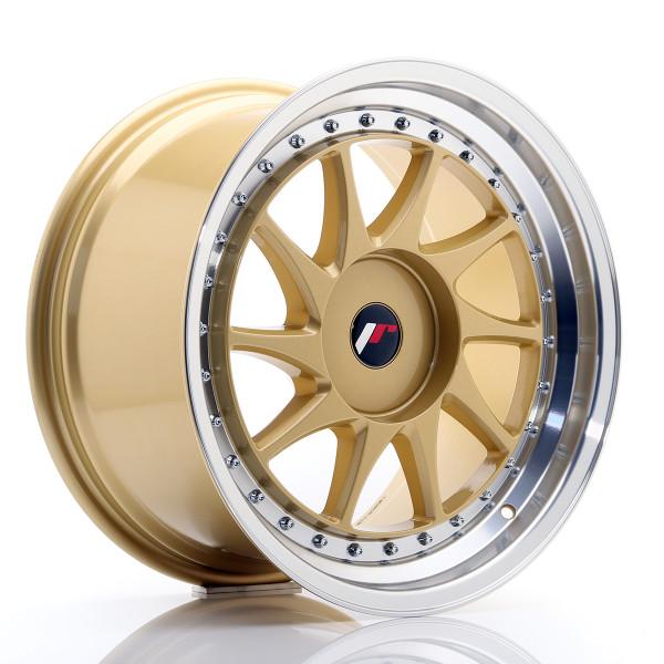 JR Wheels JR26 18x9,5 ET20-40 BLANK Gold w/Machined Lip