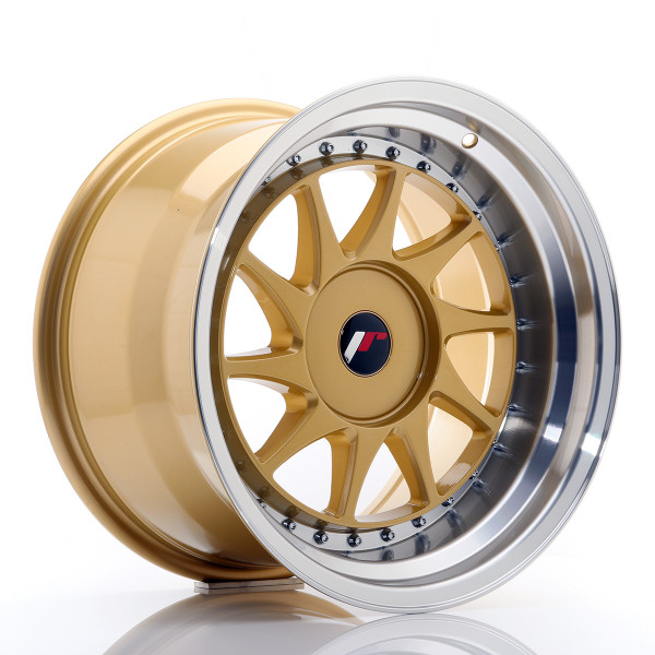 JR Wheels JR26 17x10 ET20-25 BLANK Gold w/Machined Lip