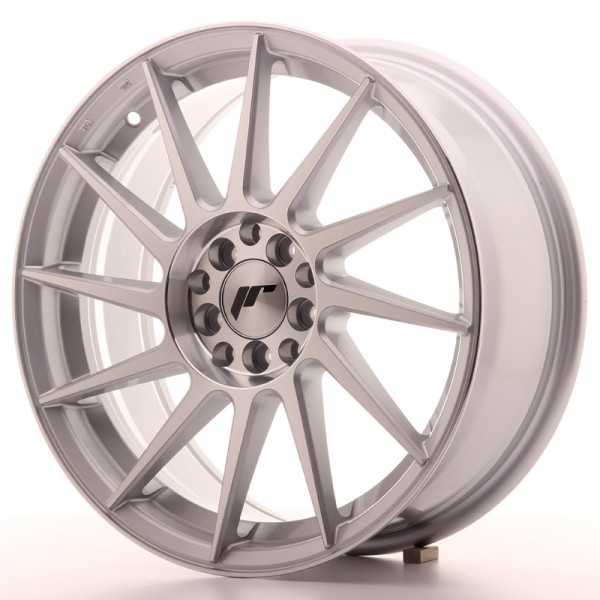 JR Wheels JR22 17x7 ET35 4x100/114 Silver Machined Face