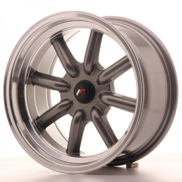 JR Wheels JR19 16x8 ET-20-0 BLANK Gun Metal w/Machined Lip
