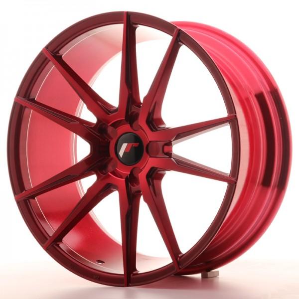 Japan Racing JR21 20x8,5 ET20-40 5H Blank Plat Red