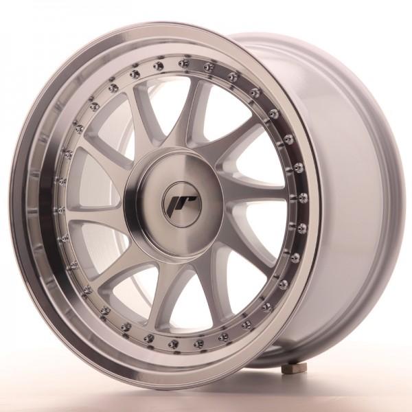 JR Wheels JR26 17x9 ET20-35 BLANK Silver Machined Face