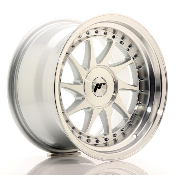 JR Wheels JR26 16x9 ET0-25 BLANK Silver Machined Face