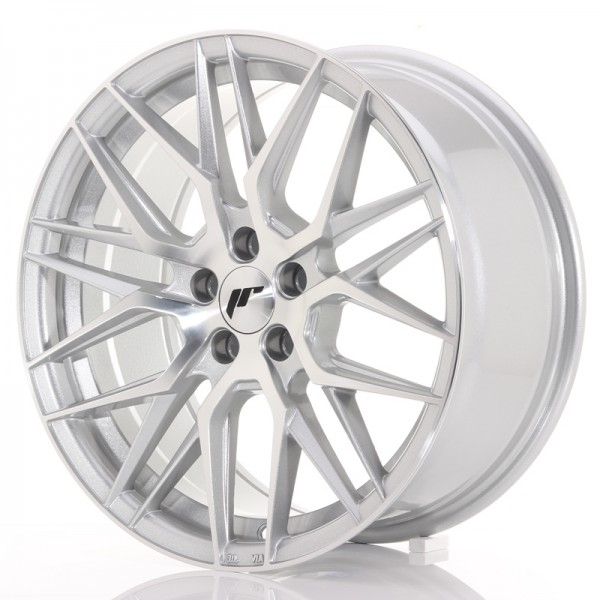 JR Wheels JR28 17x8 ET35 5x100 Silver Machined Face