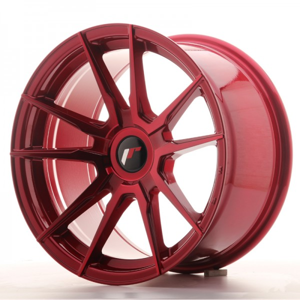 Japan Racing JR21 17x9 ET25-35 Blank Platinium Red