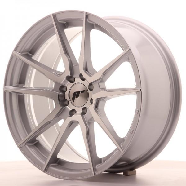 JR Wheels JR21 17x8 ET35 4x100/114 Silver Machined Face