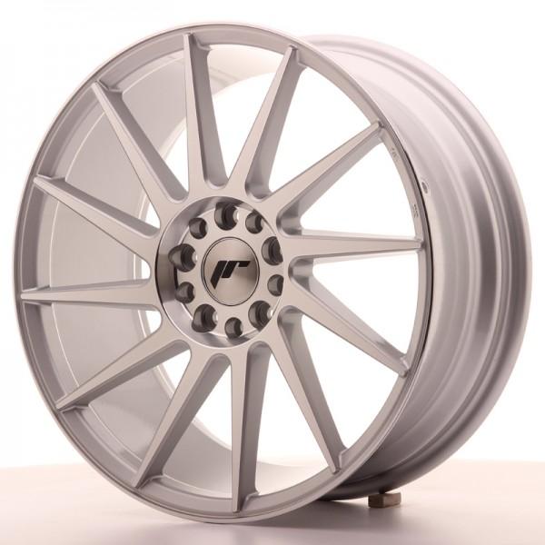 JR Wheels JR22 18x7,5 ET35 5x100/120 Silver Machined Face