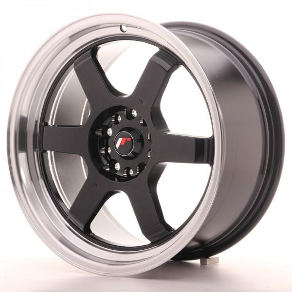 JR Wheels JR12 18x9 ET25 5x114/120 Gloss Black w/Machined Lip