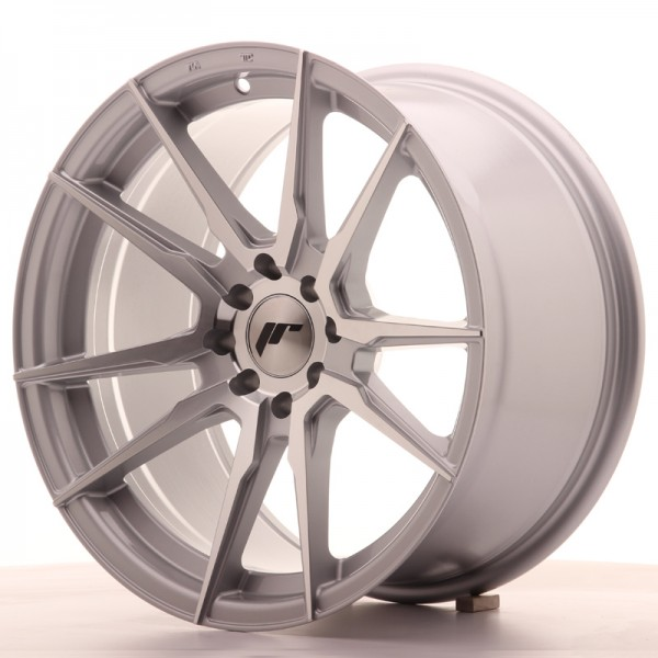 JR Wheels JR21 17x9 ET20 4x100/114 Silver Machined Face
