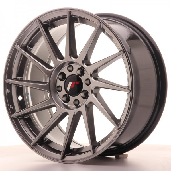 JR Wheels JR22 17x8 ET35 4x100/114 Hyper Black