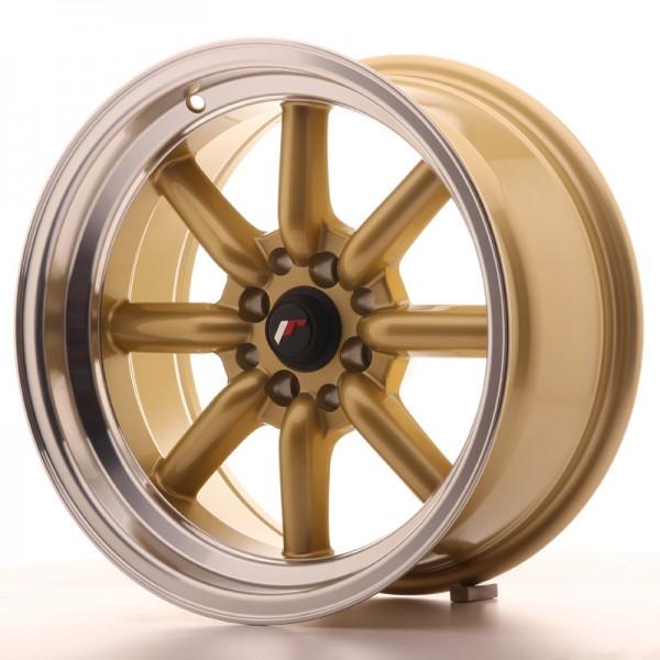 JR Wheels JR19 16x8 ET0 4x100/114 Gold w/Machined Lip