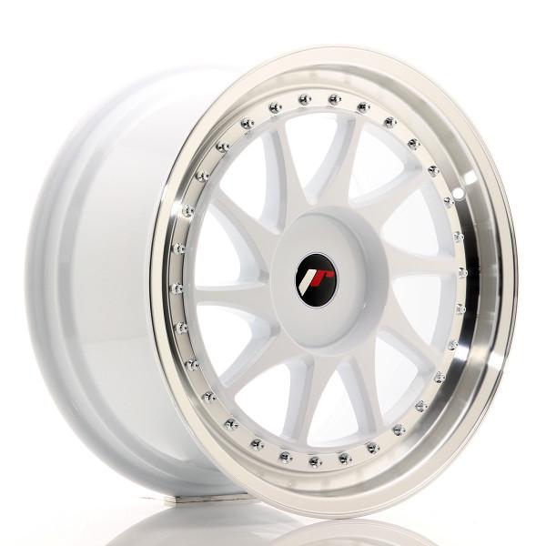 JR Wheels JR26 18x8,5 ET20-40 BLANK White w/Machined Lip