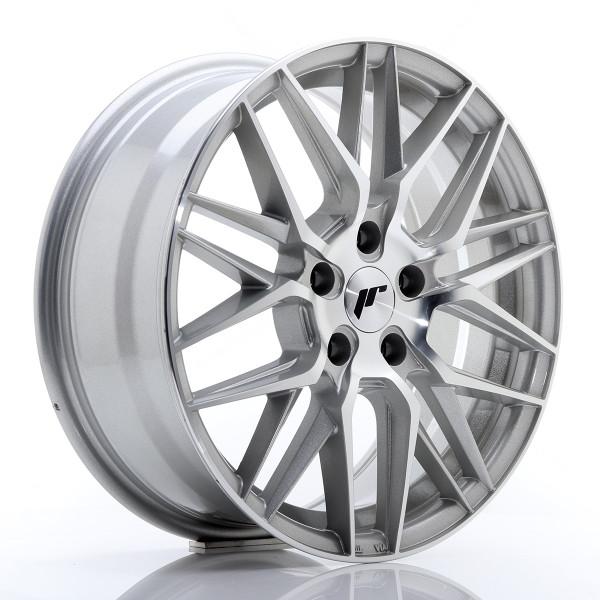 JR Wheels JR28 17x7 ET40 5x114,3 Silver Machine Face