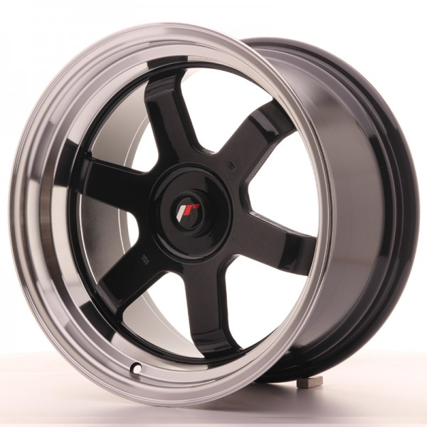 JR Wheels JR12 17x9 ET25 BLANK Gloss Black w/Machined Lip