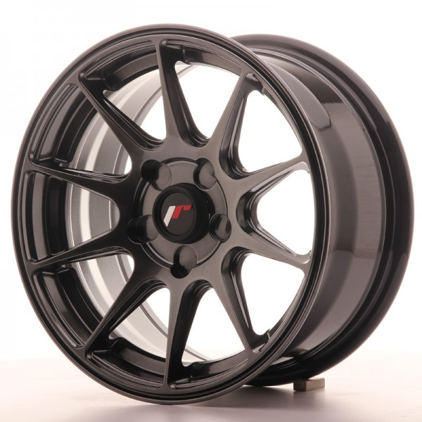 JR Wheels JR11 15x7 ET30 5H BLANK Dark Hyper Black