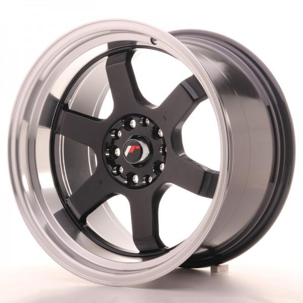JR Wheels JR12 18x10 ET0 5x114/120 Gloss Black w/Machined Lip