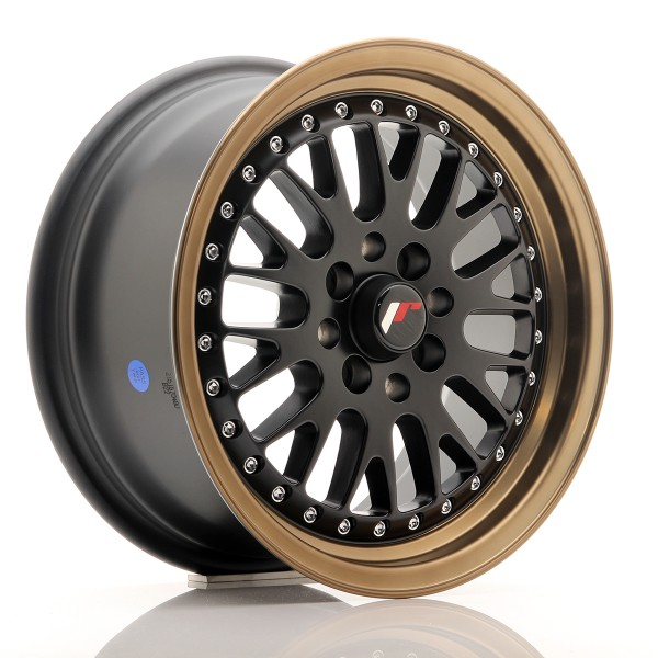 JR Wheels JR10 15x7 ET30 4x100/108 Matt Black w/Anodized Bronze Lip