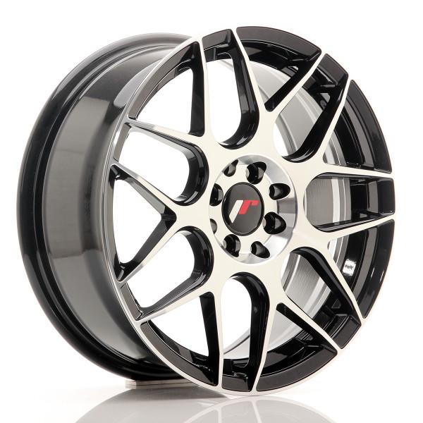 JR Wheels JR18 17x7 ET40 4x100/114 Gloss Black Machined Face