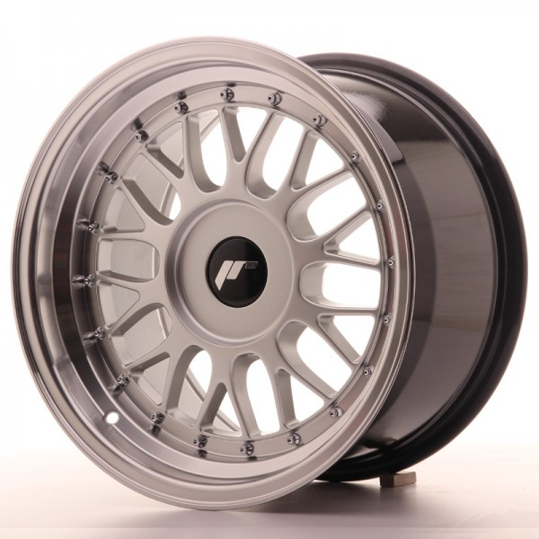 JR Wheels JR23 16x9 ET20-35 BLANK Hyper Silver w/Machined Lip