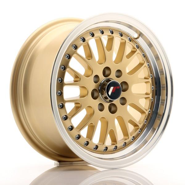 JR Wheels JR10 15x7 ET30 4x100/108 Gold w/Machined Lip