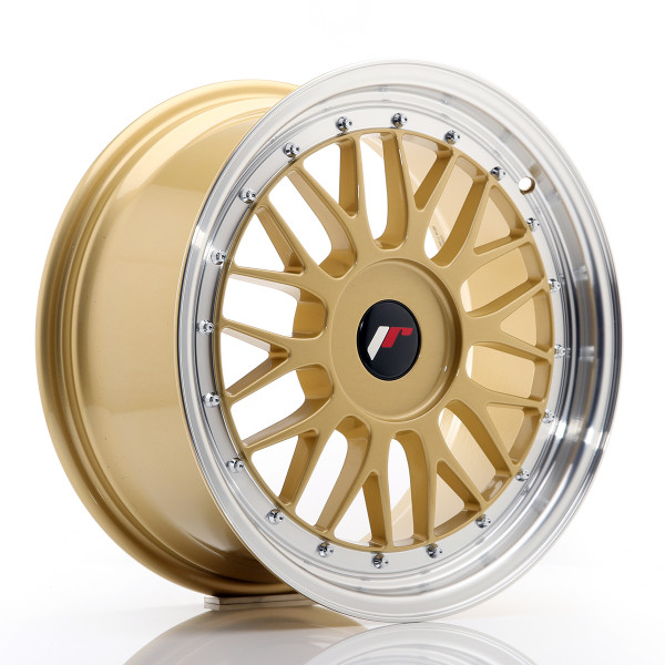 JR Wheels JR23 17x8 ET20-45 BLANK Gold w/Machined Lip