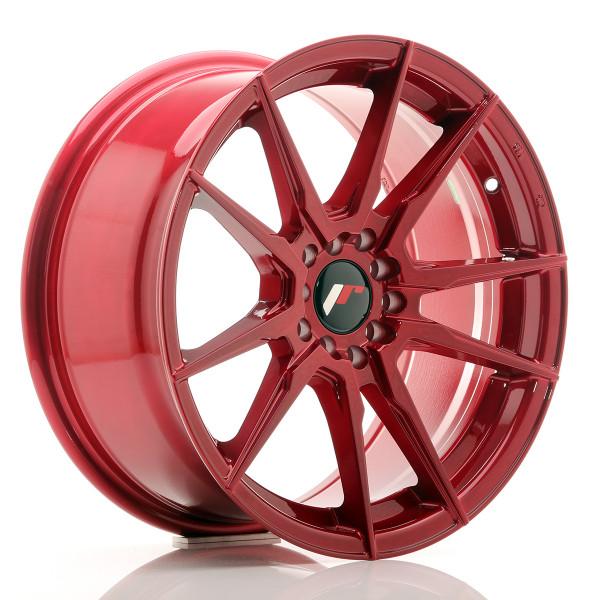 JR Wheels JR21 17x8 ET35 5x100/114 Platinum Red