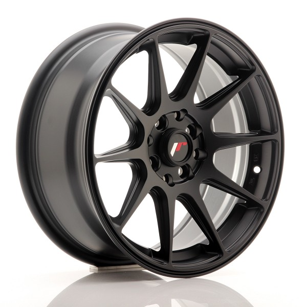 JR Wheels JR11 16x7 ET30 4x100/114 Flat Black