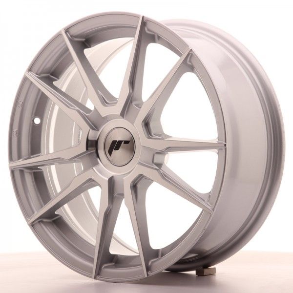 JR Wheels JR21 17x7 ET25-40 BLANK Silver Machined Face