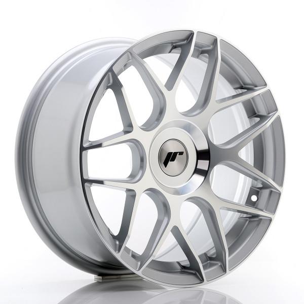 JR Wheels JR18 17x8 ET25-35 BLANK Silver Machined Face