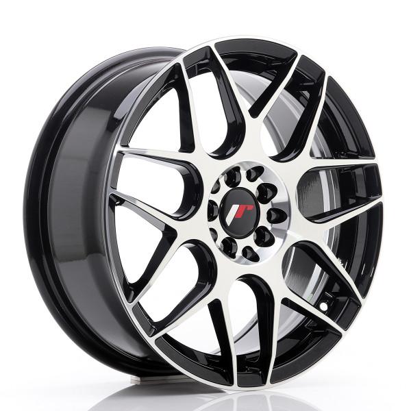 JR Wheels JR18 17x7 ET40 5x100/114 Gloss Black Machined