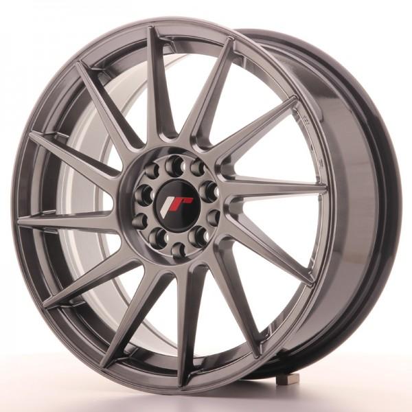 JR Wheels JR22 17x7 ET25 4x100/108 Hyper Black