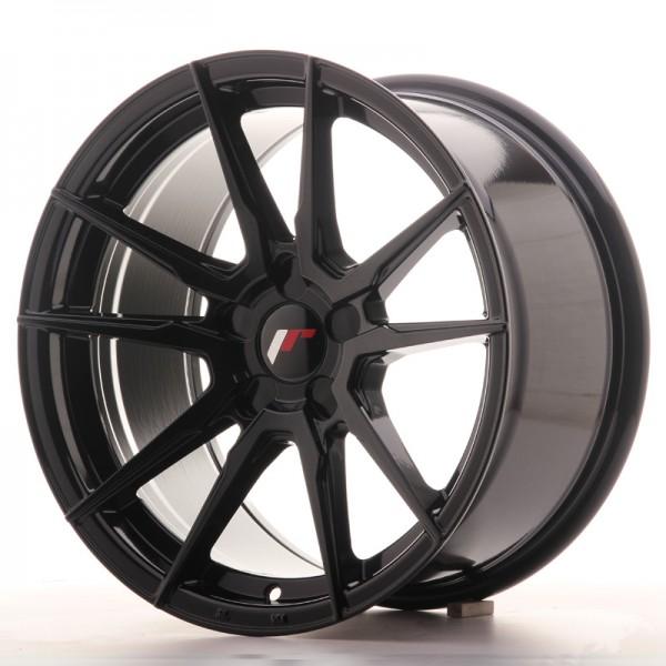 Japan Racing JR21 17x9 ET25-35 Blank Glossy Black